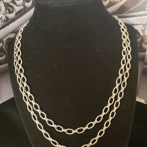 Two Vintage solid silver chains.  In great shape